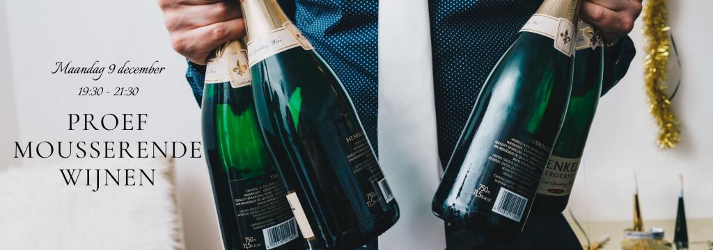 Een feestelijke wijnproeverij om het jaar af te sluiten waarin mousserende wijnen centraal staan. De wijnbox mousserende wijnen is zeer geschikt om te geven als eindejaarsgeschenk of kerstpakket. Liever de wijnproeverij mousserende wijnen tijdens uw nieuwjaarsreceptie? Ook dat kan!