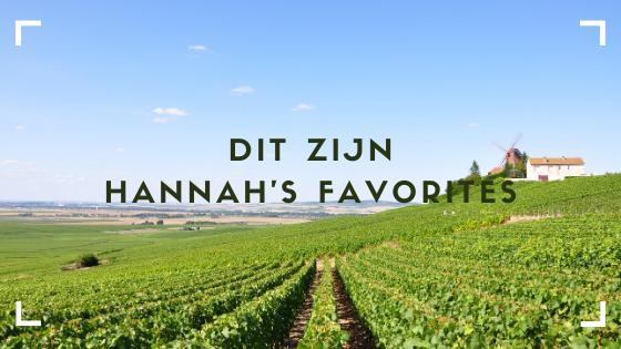 Hannahs favoriete wijnen
